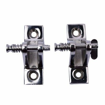 2Pcs Stainless Steel  Bimini Top Deck Hinge with Quick Release Pin 90 Degree