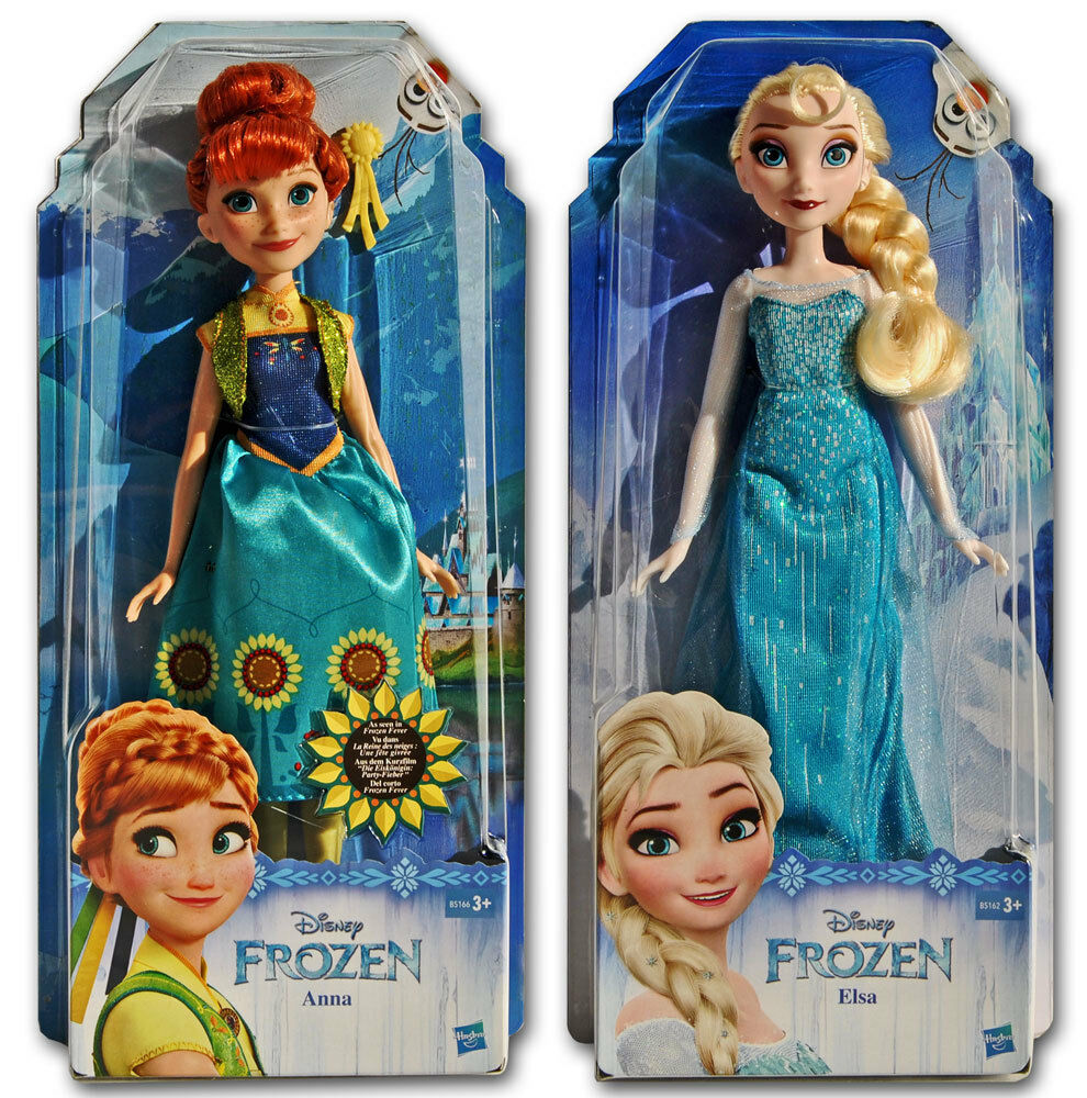 set disney die eisk nigin elsa und anna puppe frozen party fieber 27cm ebay. Black Bedroom Furniture Sets. Home Design Ideas