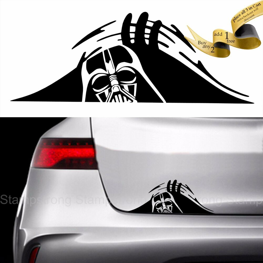 darth vader trunk peek decal sticker car jdm 13 1 0 0 star. Black Bedroom Furniture Sets. Home Design Ideas