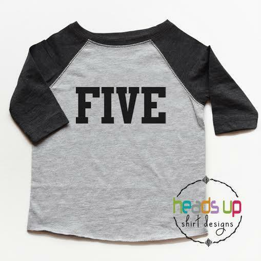 Details About 5 Birthday Shirt Boy Girl Five Tshirt Toddler Fifth Bday Tee Kids 5th Trendy