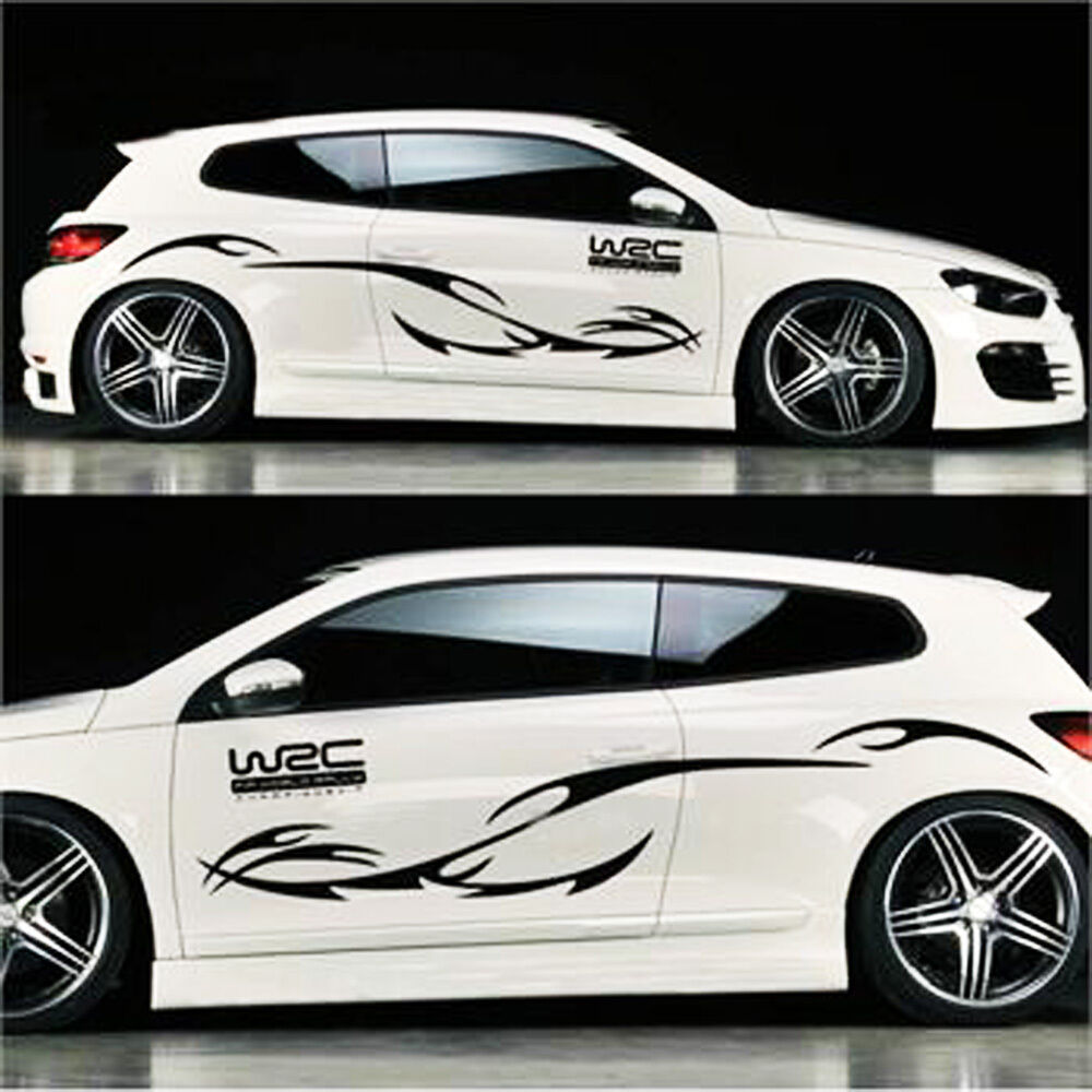 Details about universal car sticker engine hood decor mural vinyl flame auto suv decals 2pc