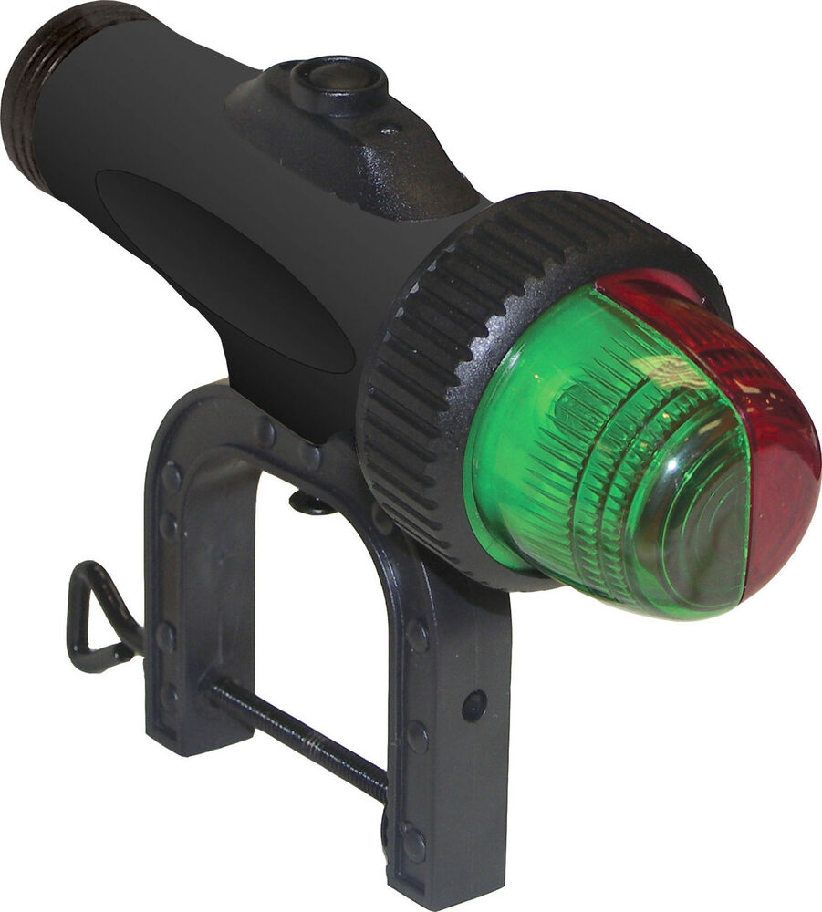 Led Boat Navigation Lights Battery: Battery Operated Boat Navigation Screw Clamp Mount BOW
