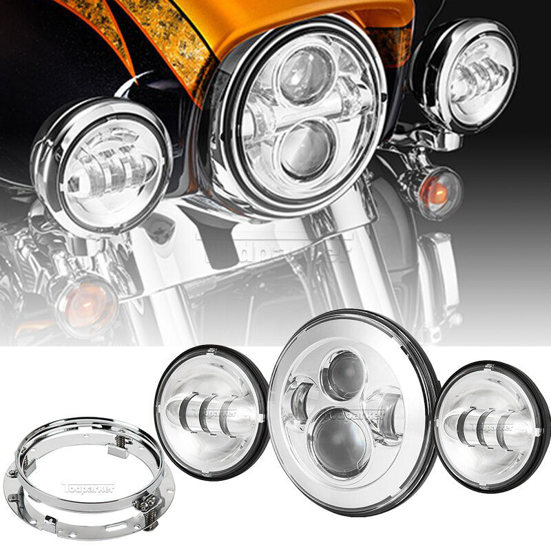 7 U0026quot  Daymaker Led Headlight Kit For Harley Davidson Tour Tri Glide Ultra Classic