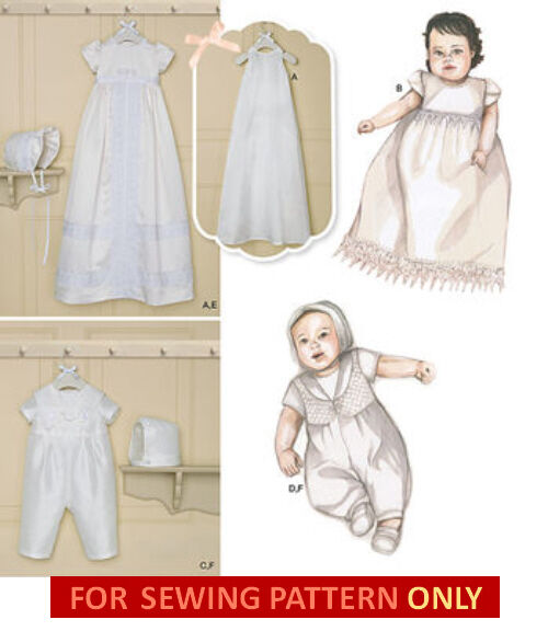 Sewing Pattern Make Baby Baptism Christening Romper Gown