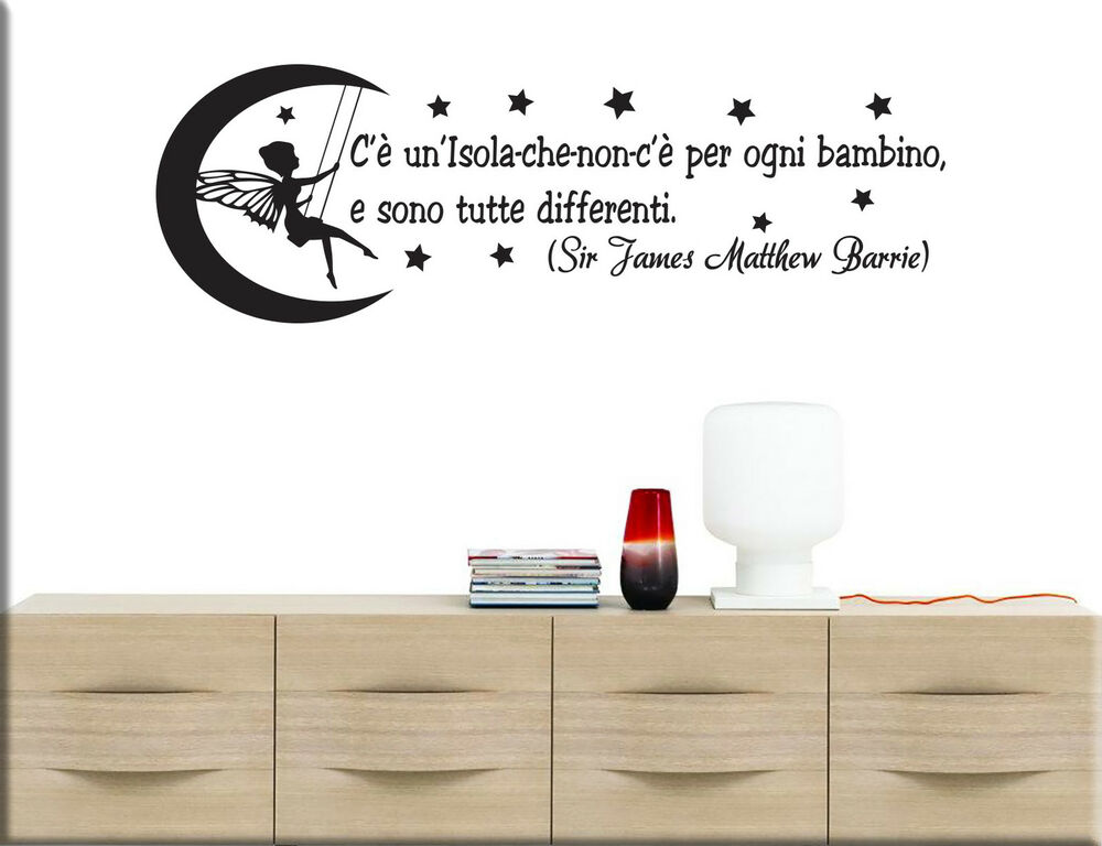 Adesivi murali frase peter pan wall stickers bambini tattoo camerette ws1294 ebay - Wall stickers camerette ...