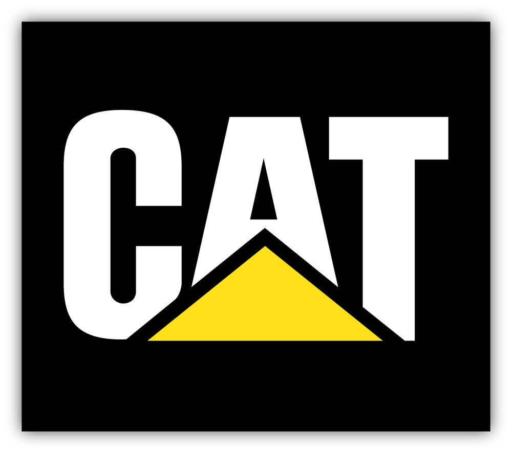CATERPILLAR Sticker Decal Vinyl Logo 4 Sizes eBay
