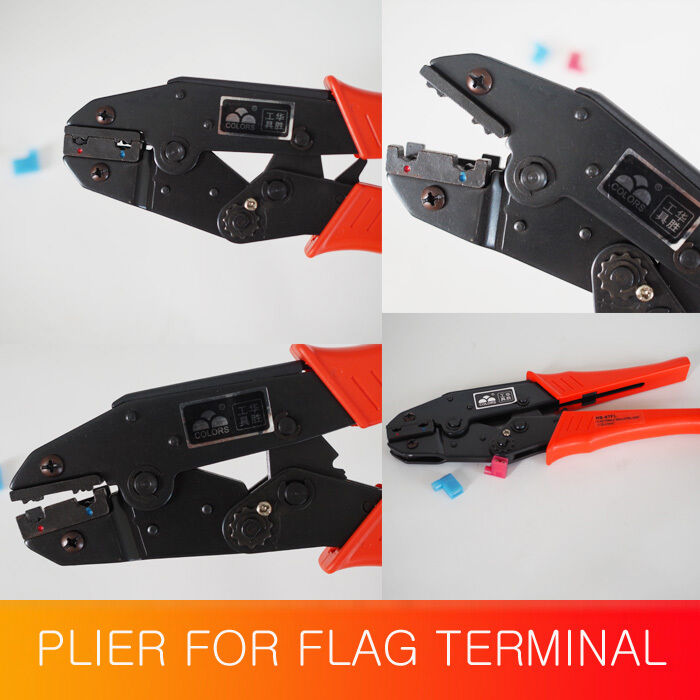 europen ratchet crimping plier 20 14awg for flag terminal 0 5 fasen ebay. Black Bedroom Furniture Sets. Home Design Ideas