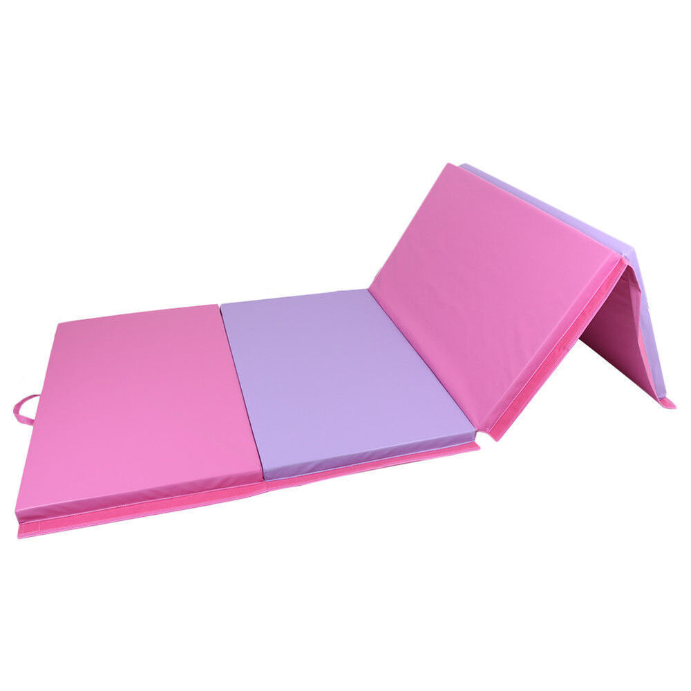 "4'x10'x2"" Thick Folding Gymnastics Exercise Mat Aerobics"