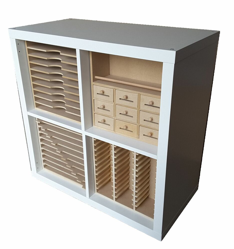 new range of craft storage inserts for ikea kallax cubes ebay. Black Bedroom Furniture Sets. Home Design Ideas