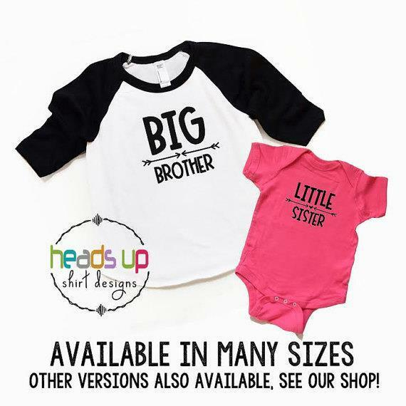26ca41dae0dd Details about Big Brother/Little Sister Shirts Sibling tshirts New Baby  Announcement Gift Tees