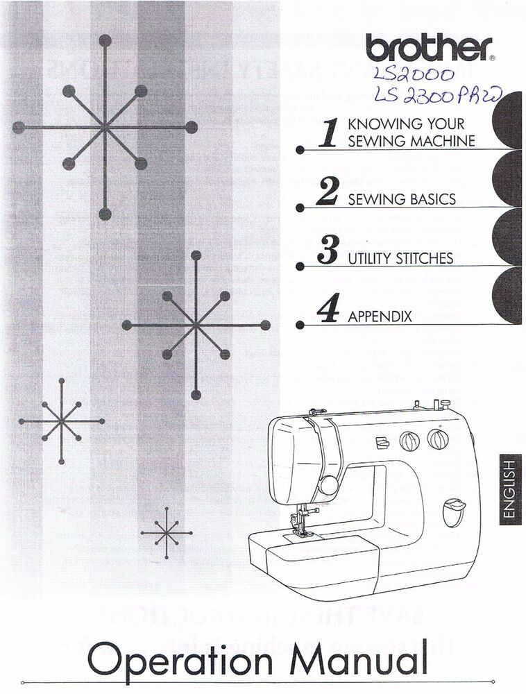 Brother LS40 LS40PRW Sewing Machine Users Guide Owners Classy How To Thread A Brother Ls2000 Sewing Machine