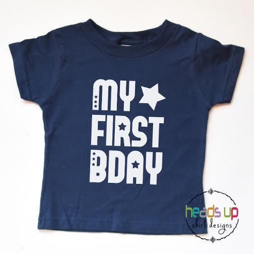 Details About First Birthday Shirt Baby Boy Girl Toddler 1st Tshirt My Bday Tee One Kids