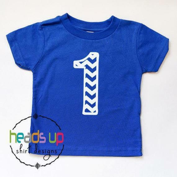 Details About 1st Birthday Shirt Baby Boy Girl First Bday Trendy Chevron One Cake Smash Tee 1