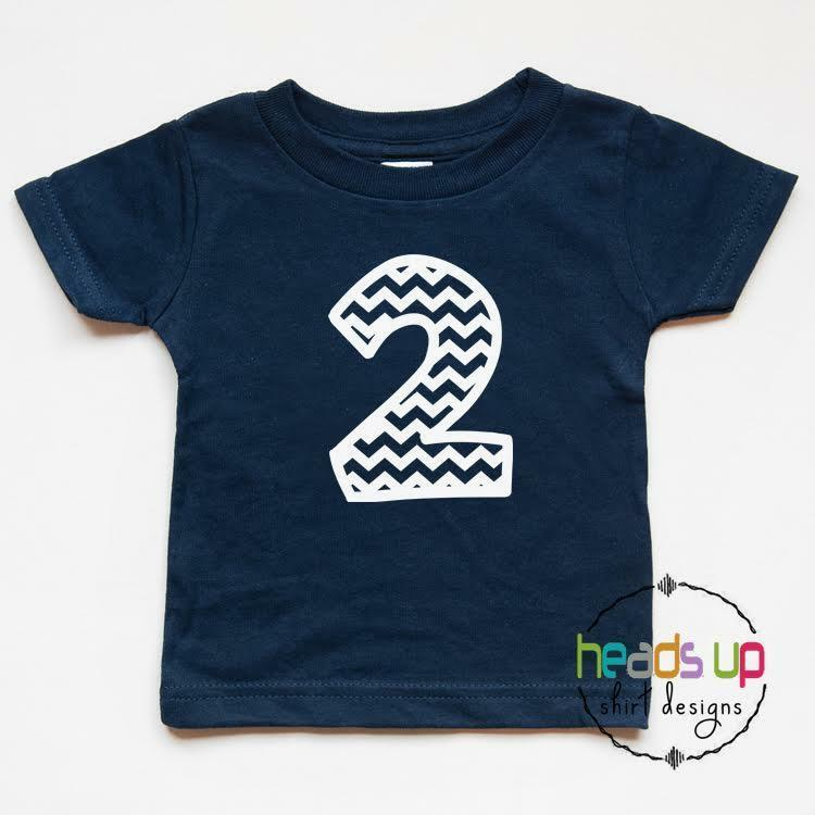 Details About Second Birthday Shirt Toddler Boy Girl 2 Bday Tshirt Chevron Two Photo 2nd Tee