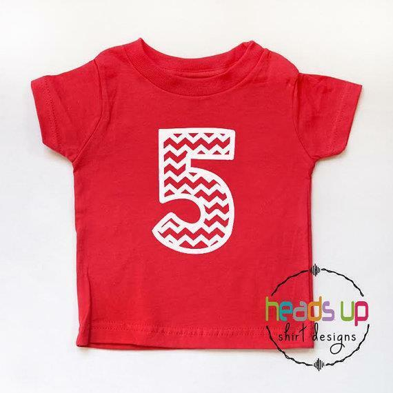 Details About 5th Birthday Shirt Boy Girl Fifth Bdayy Tee Five B Day Tshirt Trendy Chevron 5 T