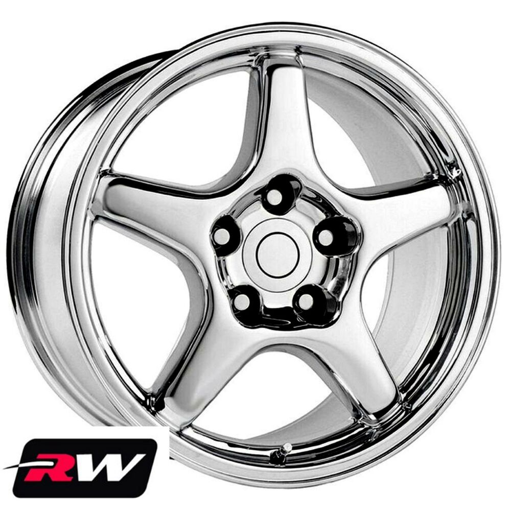 Chevrolet Corvette Wheels C4 Zr1 Chrome Rims 17 Inch 17x9