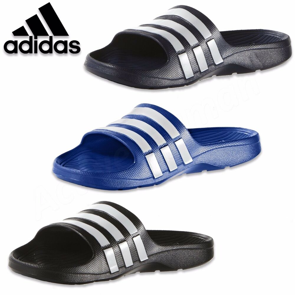Adidas Duramo Mens Sliders Flip Flops Sandals Pool Beach