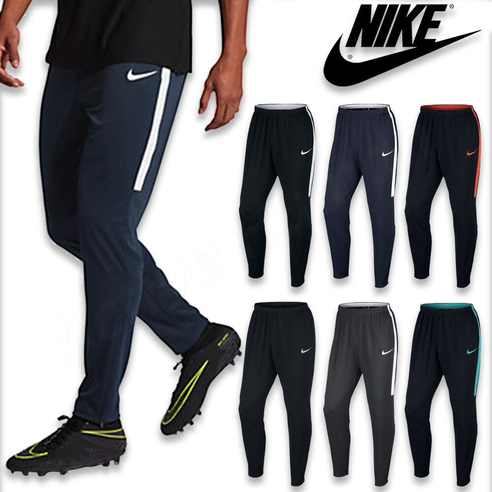 mens nike pants dry academy tracksuit training bottoms football running sport ebay. Black Bedroom Furniture Sets. Home Design Ideas