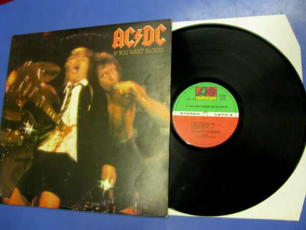 Lp AC/DC If You Want Blood You've Got It Atlantic 1978 Made in Italy W 50532