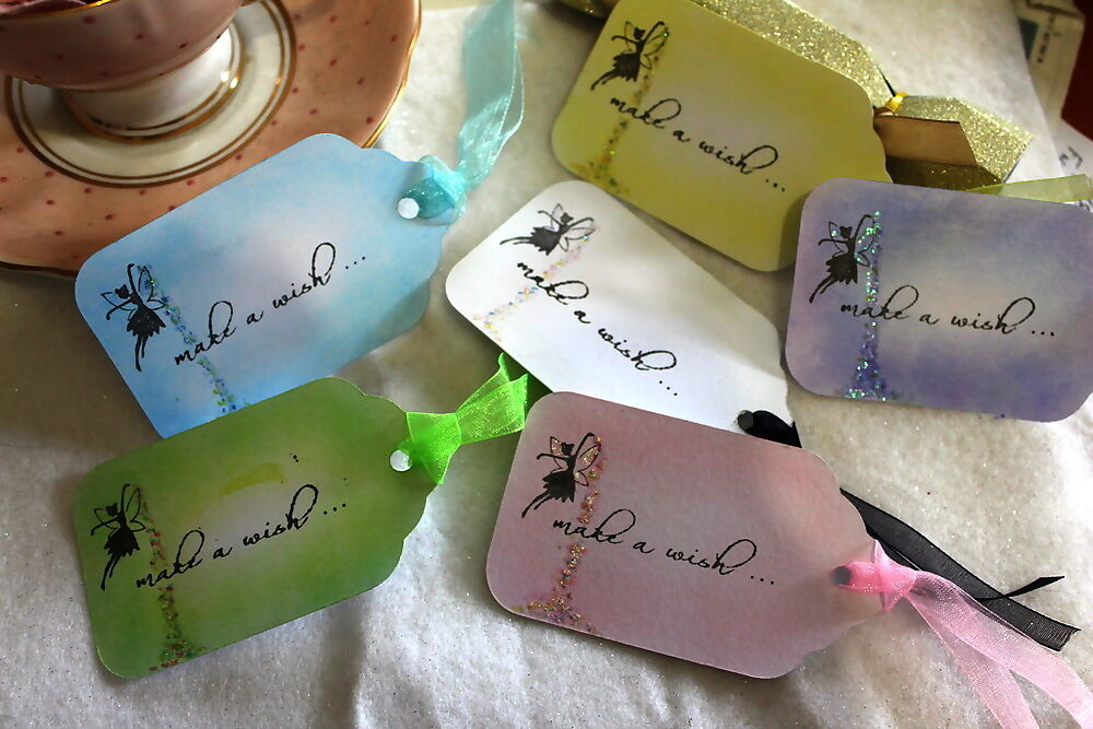 Make A Wish Fairy Tags - Wedding Etc Wish Tree/Gift/Favour Tags, Set ...