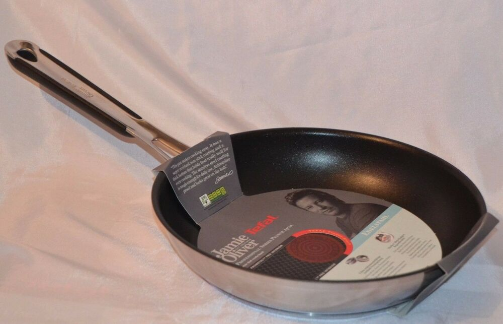 quality new tefal jamie oliver 24cm non stick frying fry. Black Bedroom Furniture Sets. Home Design Ideas