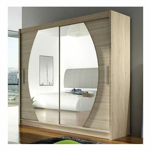 Wardrobe bega 4 sliding doors mirror hanging rail shelves for 1 door wardrobe with shelves