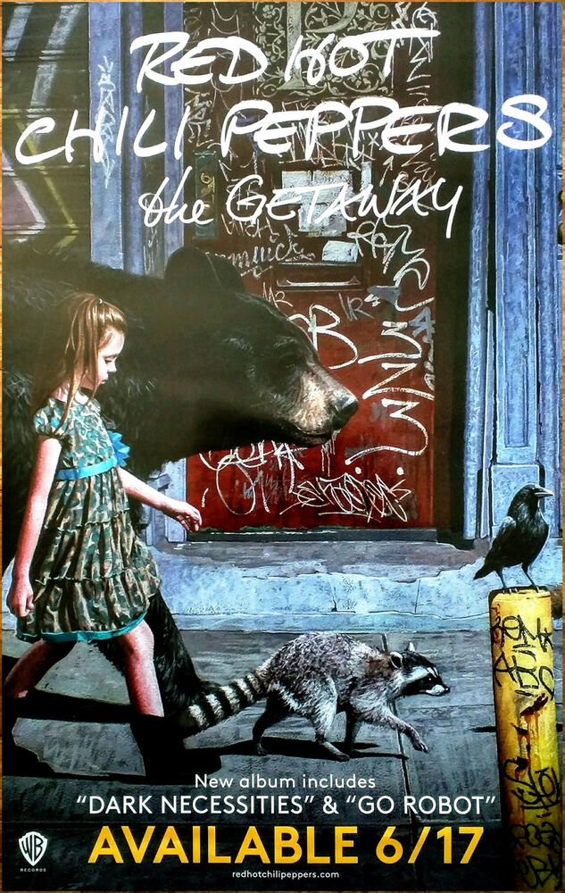 red hot chili peppers the getaway 2016 ltd ed rare poster free rock poster rhcp ebay. Black Bedroom Furniture Sets. Home Design Ideas