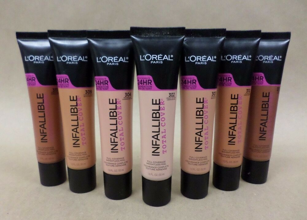 loreal infallible total cover foundation  choose your