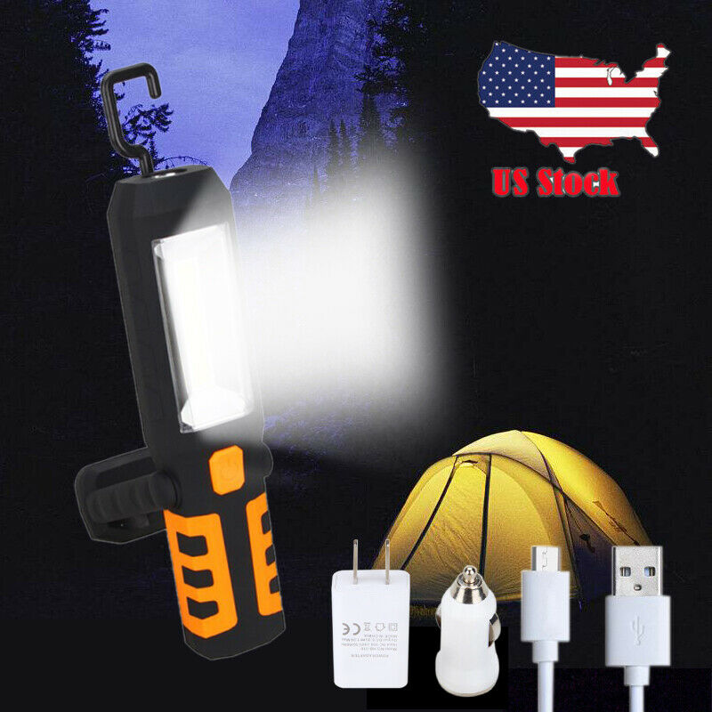 Led Work Light Magnet Lamp Torch Rechargeable Cordless: COB LED Magnetic Work Light Car Garage Mechanic Home