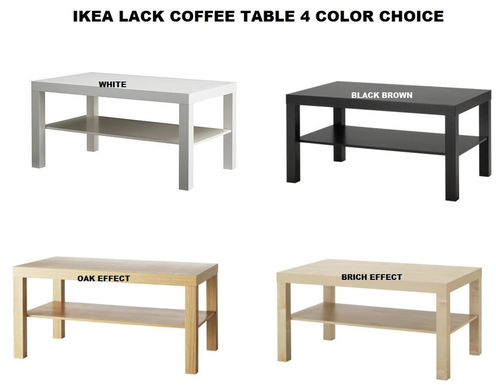 ikea lack coffee table with shelf modern elegant 90 x 55 cm choice of colour ebay. Black Bedroom Furniture Sets. Home Design Ideas