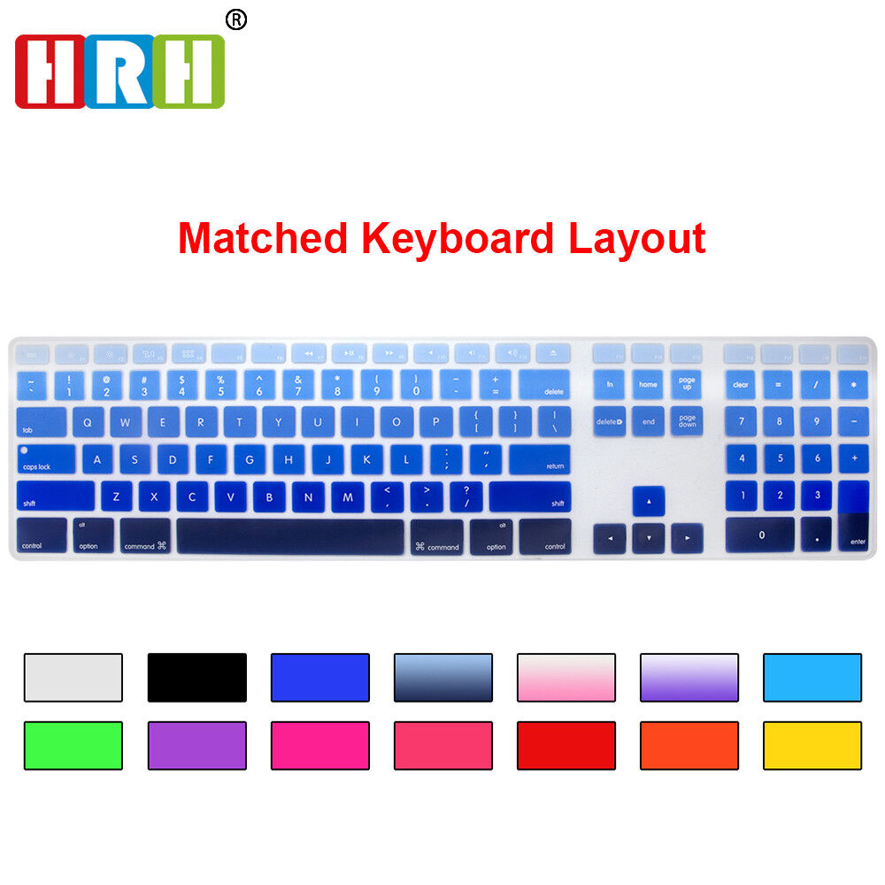 color silicone cover skin protector for apple imac g6 desktop pc wired keyboard ebay. Black Bedroom Furniture Sets. Home Design Ideas