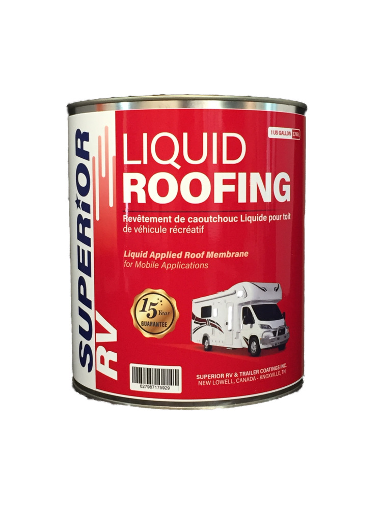 Liquid Rubber Epdm Rv Trailer Roof Coating 1 Gal White 15