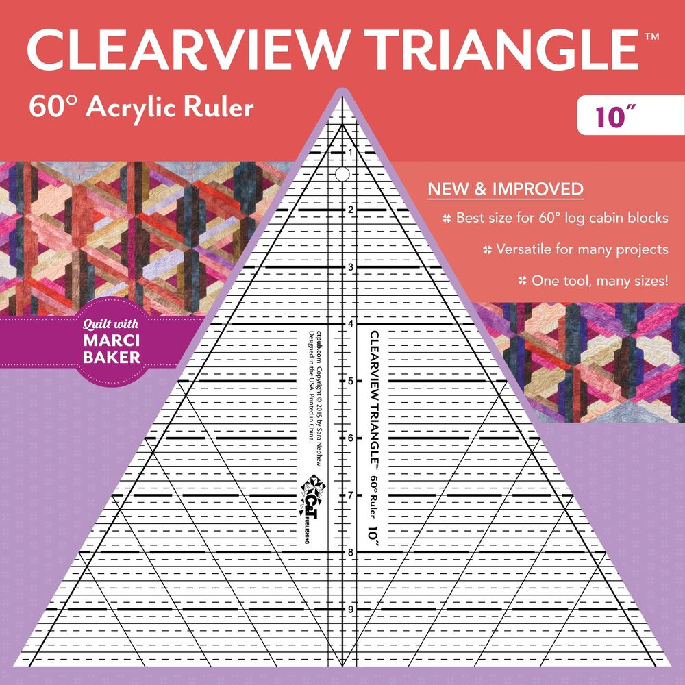 Clearview Triangle 10 Inch 60 Degree Acrylic Ruler Ebay