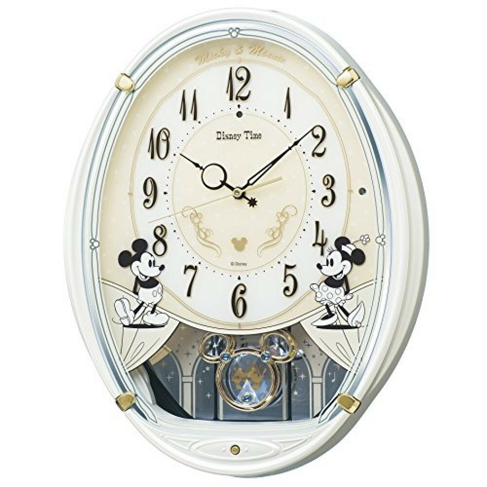 Seiko Wall Clock Mickey Mouse Minnie Radio Analog 6melody