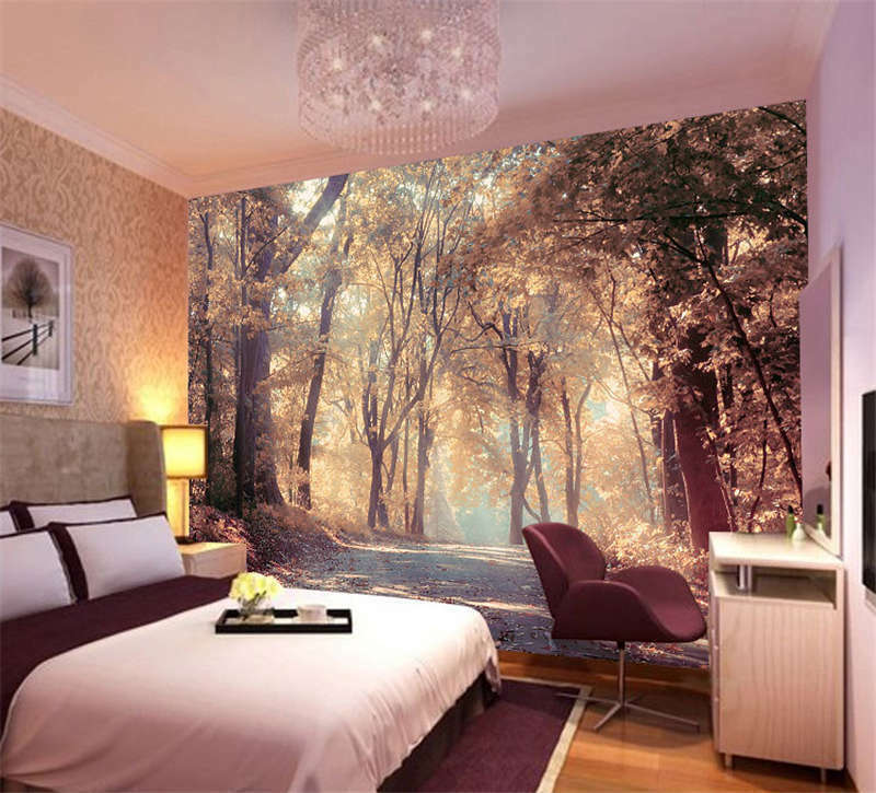 colorful autumn scenery full wall mural photo wallpaper print kids home 3d decal ebay. Black Bedroom Furniture Sets. Home Design Ideas