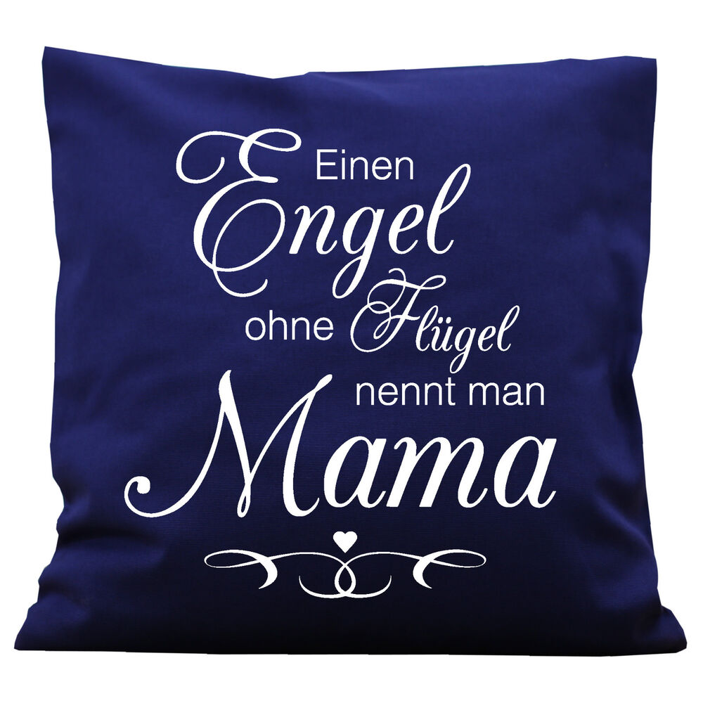 k112 wandtattoo loft deko kissen schrift mama engel ohne fl gel muttertag ebay. Black Bedroom Furniture Sets. Home Design Ideas