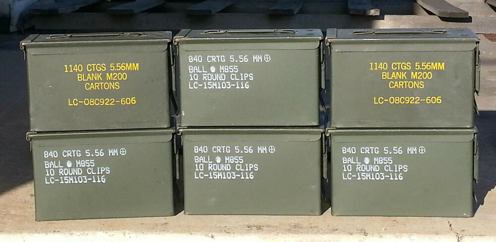 1 Us Military Surplus 50 Cal M2a1 M2a2 Ammo Can Box
