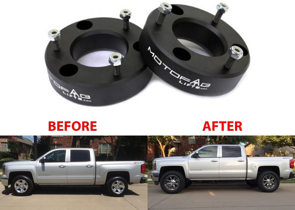 "MotoFab 2.5"" Leveling Kit For 2007-2018 GM Pickup Trucks ..."
