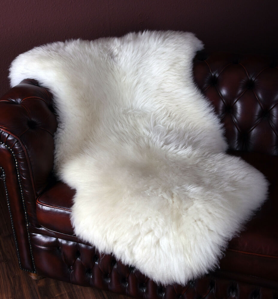 merino lammfell schaffell fell teppich lambskin sheepskin natur wei 80cm 160cm ebay. Black Bedroom Furniture Sets. Home Design Ideas