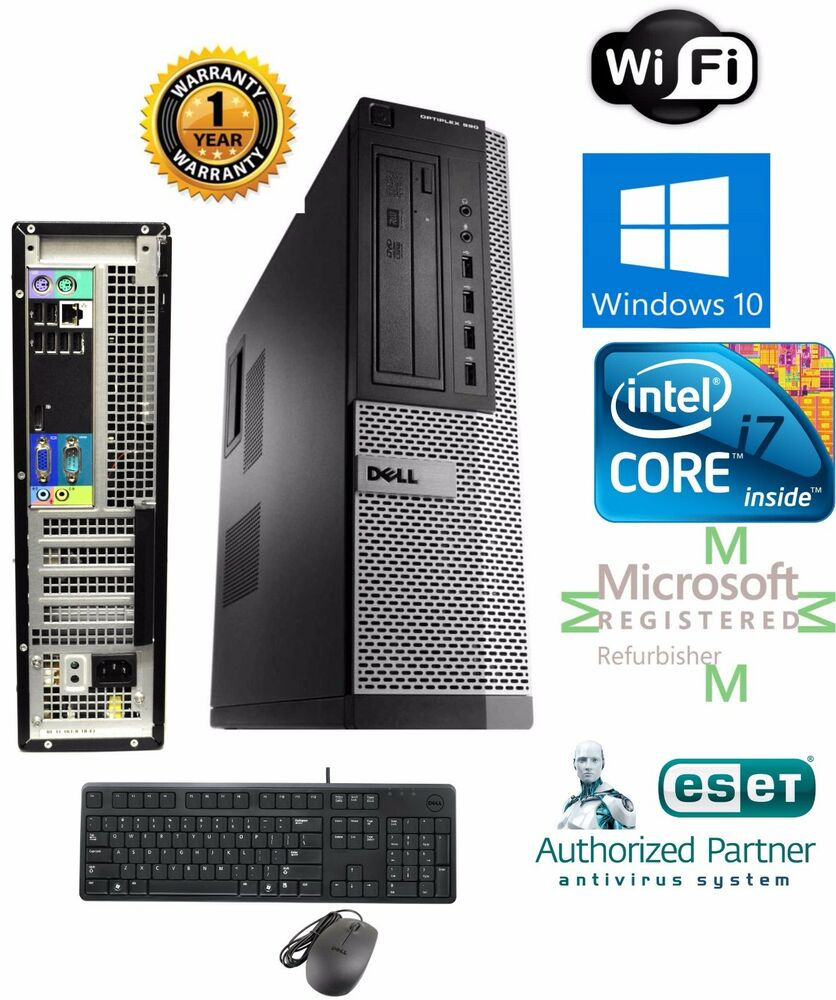 dell optiplex pc desktop intel i7 2600 8gb 240gb ssd windows 10 hp 64 ebay. Black Bedroom Furniture Sets. Home Design Ideas