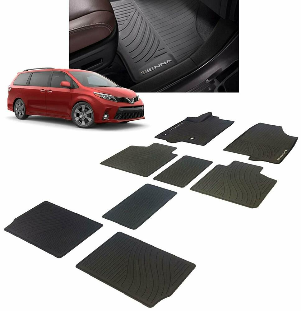 2013 2016 Toyota Sienna Factory All Weather Rubber Floor