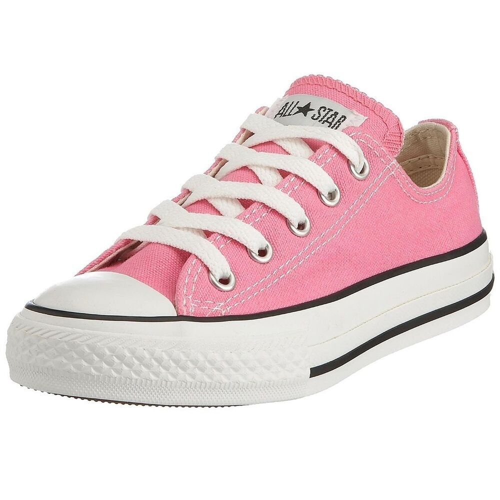 Details about Converse Shoes Pink All Star Chuck Taylor Ox 3J238 Kids Girls  Youth Size 10.5-3 2c44d168c