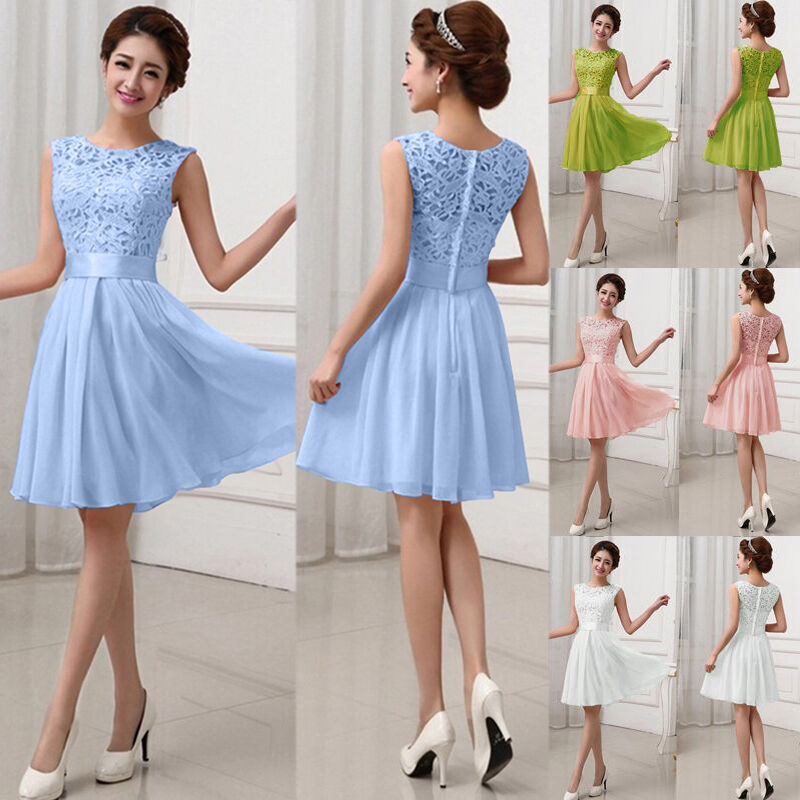 Fashion women lace short dress prom evening party cocktail for Formal dress for women wedding