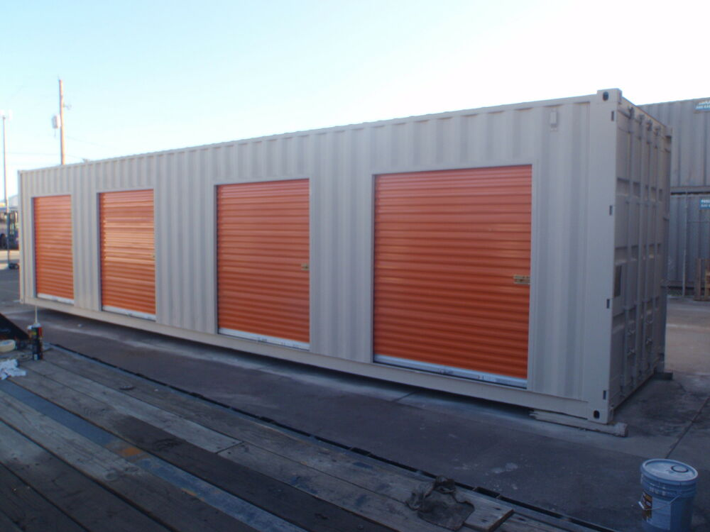 Temporary Storage Containers : Shipping container portable storage building with four
