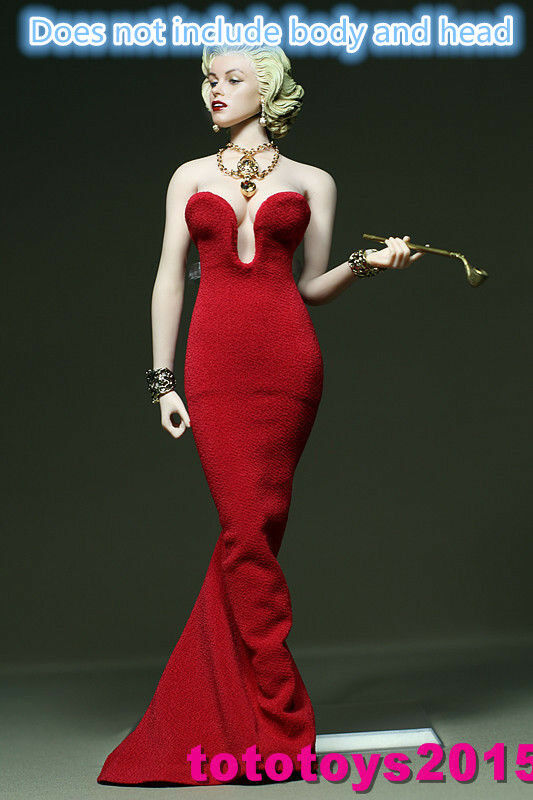 customed 16 scale woman marilyn monroe red dress for 12