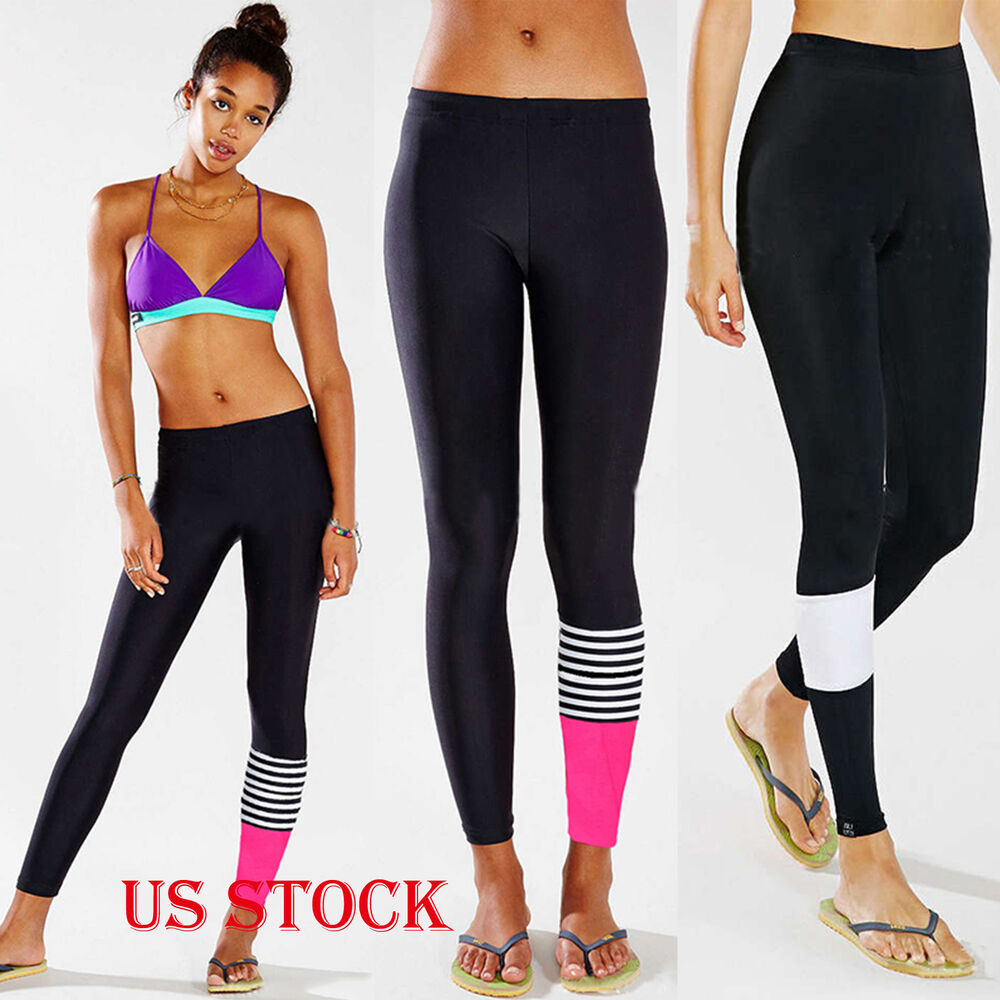 Womens Leggings Yoga Sports Athletic Fitness Stretch: Women High Waist Yoga Fitness Stretch Leggings Workout Gym