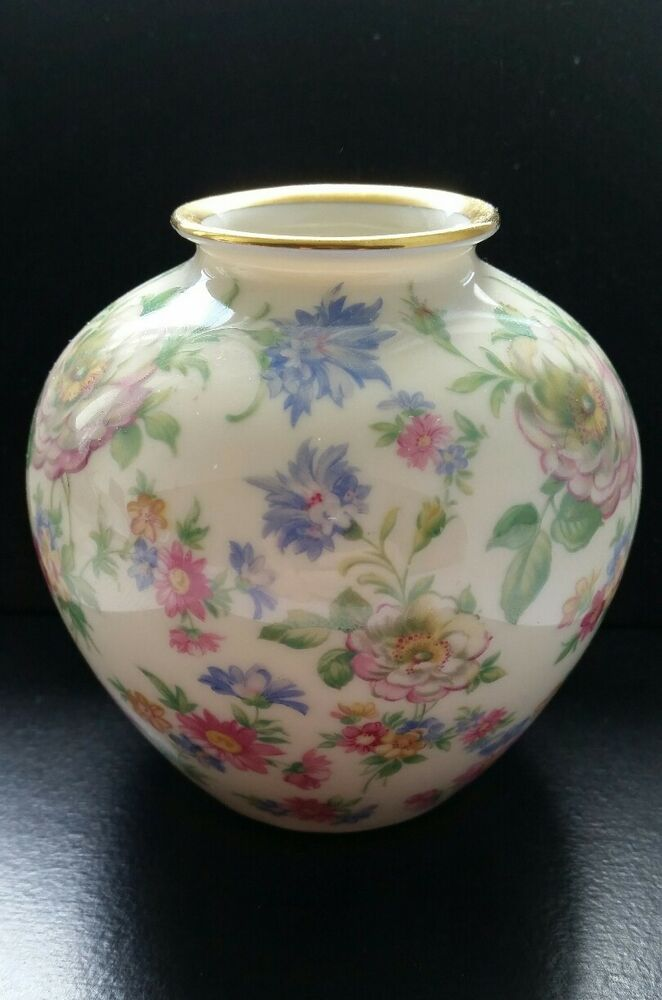 kleine vase porzellan thomas ivory bavaria germany blumenmuster ebay. Black Bedroom Furniture Sets. Home Design Ideas