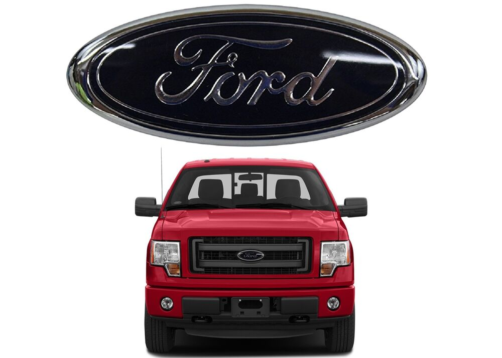 """2014 Ford F150 Accessories >> 9"""" Black Front Grill Emblem For 2004-2015 Ford F150 05-07 F250 New Free Shipping 