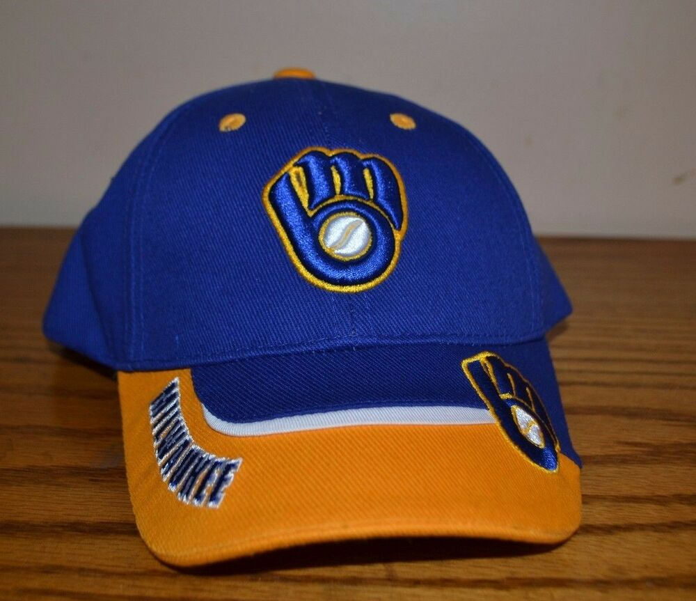 Details about MLB GENUINE Milwaukee Brewers hats 1c9d4e57297