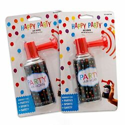 Air Horn Portable Hand Held Security Safety Party Sports Boat Loud Blast 2PKS